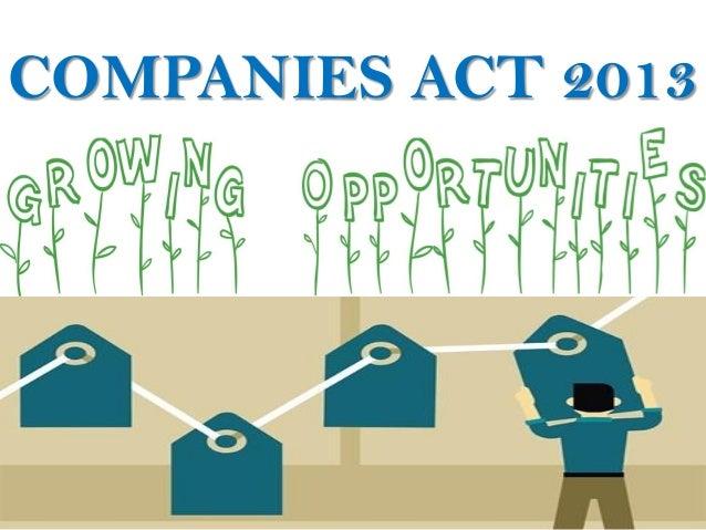 COMPANIES ACT 2013 Oppor