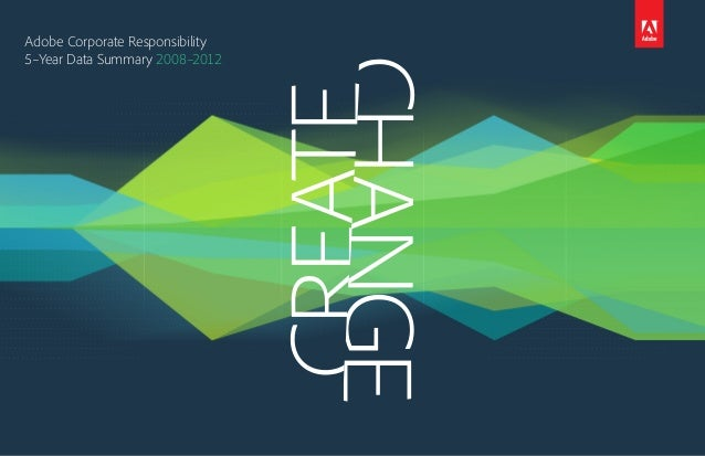 Adobe Corporate Responsibility 5–Year Data Summary 2008–2012