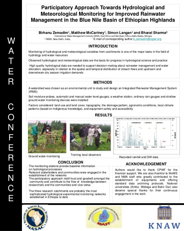 Participatory Approach Towards Hydrological and        Meteorological Monitoring for Improved Rainwater     Management in ...