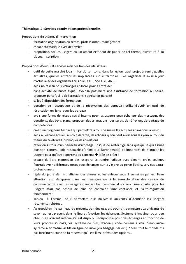 Atelier Buro'nomade Val d'Europe 05/11/13 Slide 2