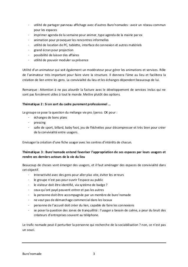 Atelier Buro'nomade Val d'Europe 05/11/13 Slide 3