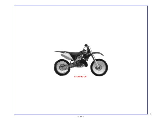 Manual Moto Cr250 r2