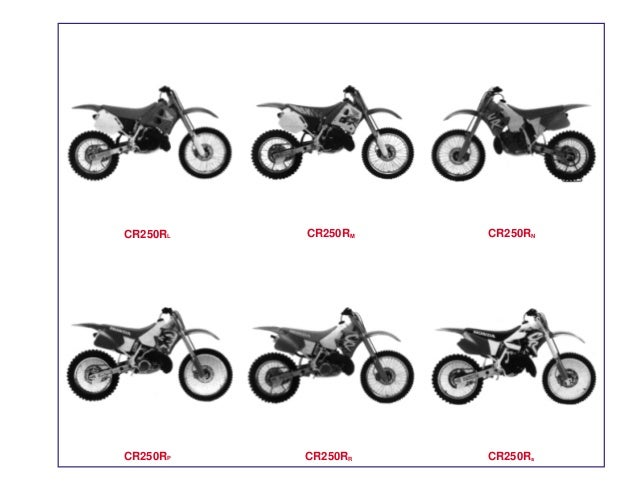 Manual Moto Cr250 rl