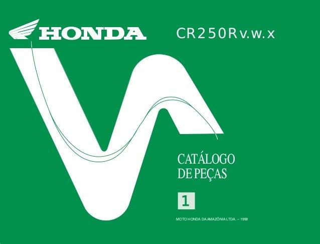 CR250Rv.w.x CATÁLOGO DE PEÇAS MOTO HONDA DA AMAZÔNIA LTDA. – 1999 11 CR250Rv.w.x1 MOTO HONDA DA AMAZÔNIA LTDA. IMPRESSO NO...