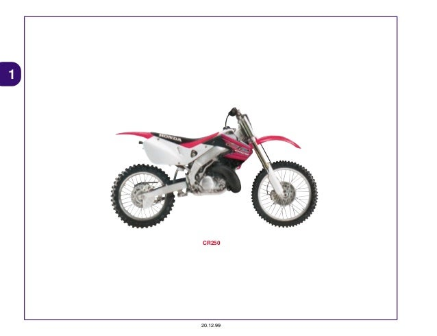 Manual Moto Cr250 vwx