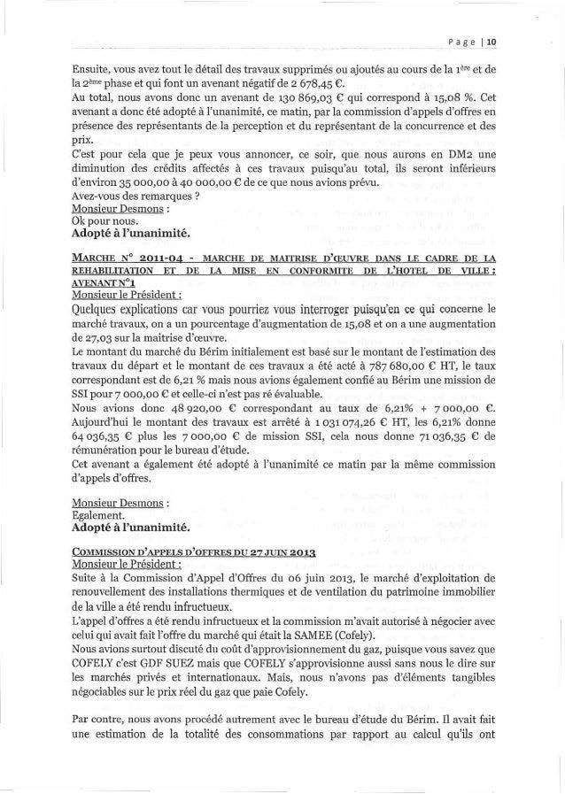 Page 1.1.9 Ensuite, vous avez tout le détail des travaux supprimés ou ajoutés au cours de la 1ère et de la 2ème phase et q...