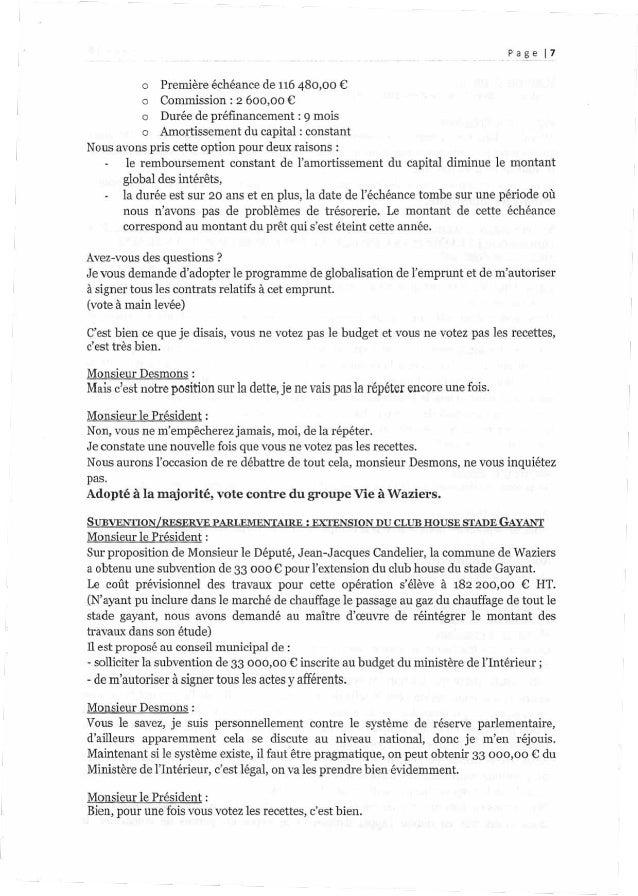 Page [p7 o Première échéance de 116480,00 € o Commission : 2 600,00 € o Duréedepréfinancement : 9 mois o Amortissement du c...