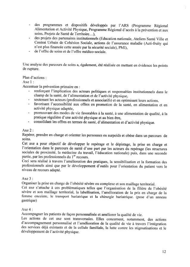 — des programmes et dispositifs développés par l'ARS (Programme Régional Alimentation etActivité Physique,ProgrammeRégiona...