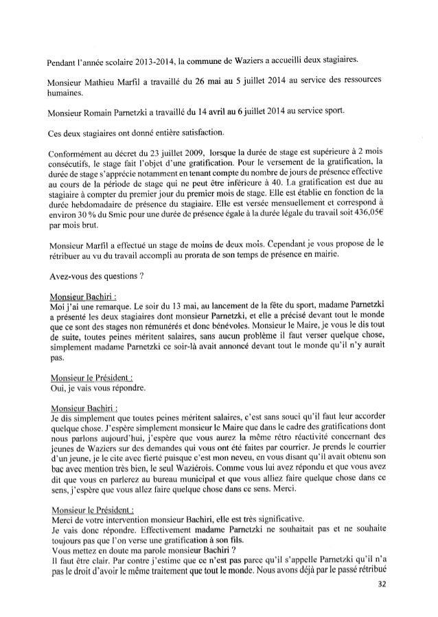 Pendant l'année scolaire 2013‐2014, la commune de Waziers aaccueilli deux stagiaires. Monsieur Mathieu Marfil a travaillé d...