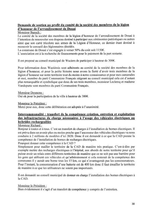 Demande de soutien au p r o fi t du comité de la société des membres de la légion d'honneur de l'arrondissement de Douai Mo...