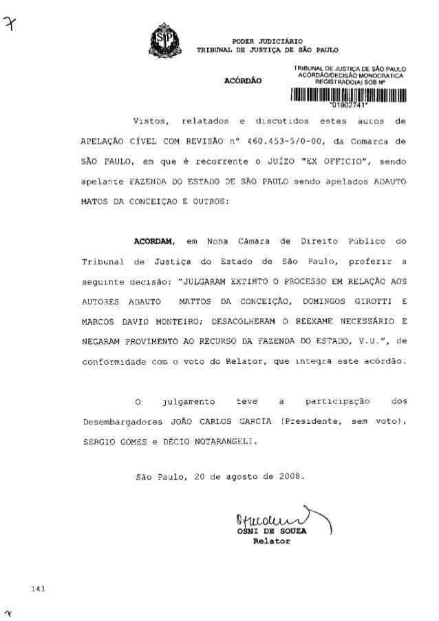 PODER JUDICIÁRIO TRIBUNAL DE JUSTIÇA DE SÃO PAULO TRIBUNAL DE JUSTIÇA DE SÃO PAULO ACÓRDÃO/DECISÃO MONOCRATICA ACÓRDÃO REG...