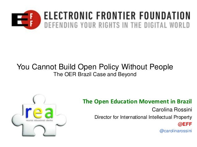 You Cannot Build Open Policy Without People          The OER Brazil Case and Beyond                    The Open Education ...