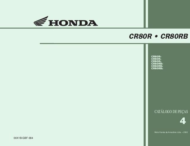 Capa CR80R/02 06/06/2002 11:23 AM Page 1 Composite C M Y CM MY CY CMY K 00X1B-GBF-004 4 Moto Honda da Amazônia Ltda. – 200...