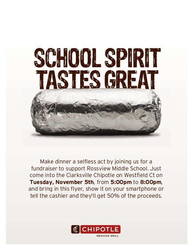 SCHOOL SPIRIT TASTES GREAT  Make dinner a selfless act by joining us for a fundraiser to support Rossview Middle School. J...