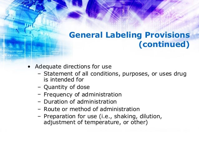 Labeling Of Drugs 21 Cfr Part 201