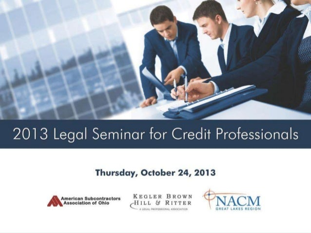 Post-Judgment Collection: Now What?  presented by Dan Bennett Legal Seminar for Credit Professionals October 24, 2013