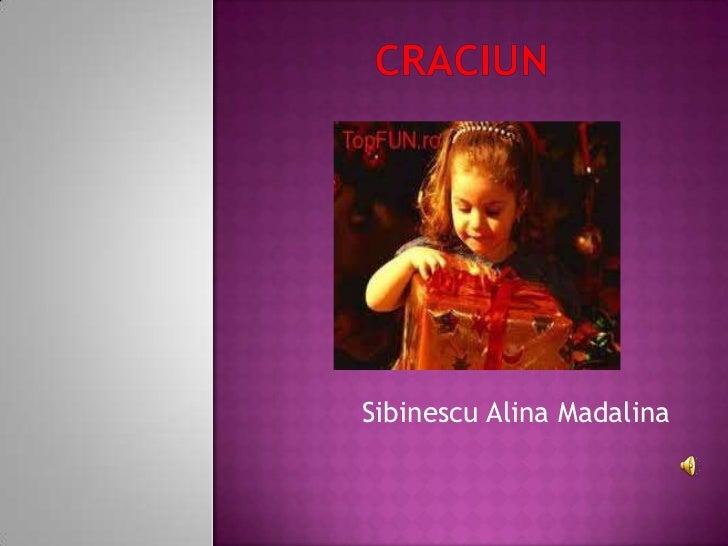Sibinescu Alina Madalina