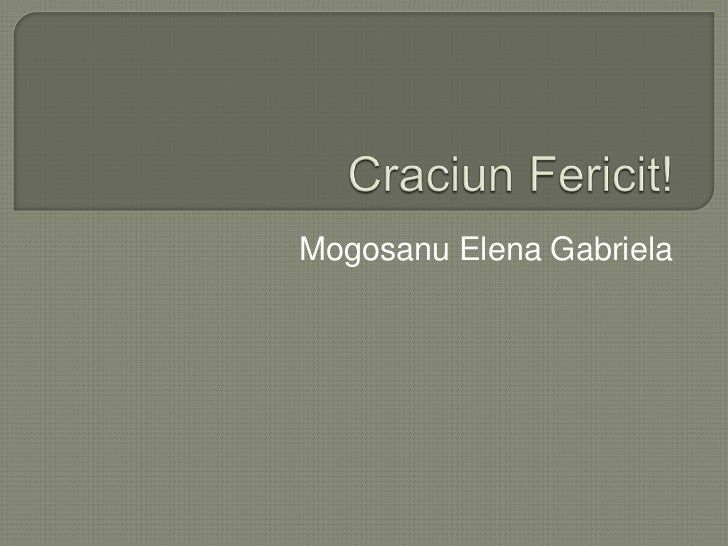Mogosanu Elena Gabriela