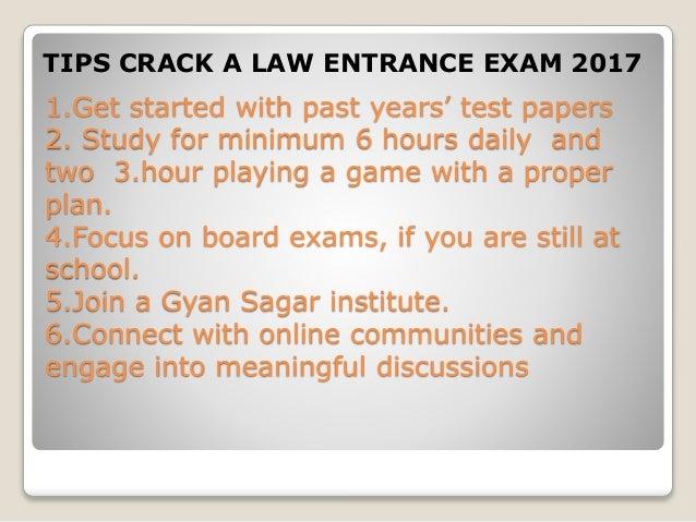 Crack a law entrance exam 2017 by gyan sagar institute Slide 3