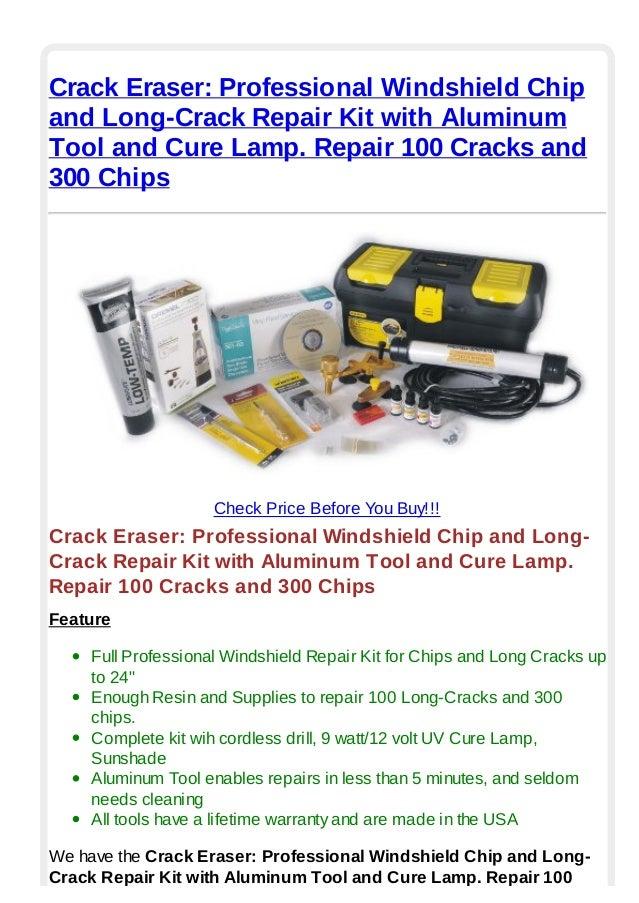 crack eraser professional windshield chip and long crack repair kit w. Black Bedroom Furniture Sets. Home Design Ideas