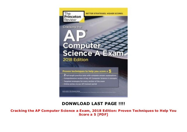 Cracking the AP Computer Science a Exam, 2018 Edition: Proven Techniq…