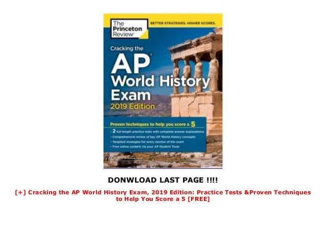 Cracking the AP World History Exam, 2019 Edition: Practice ...