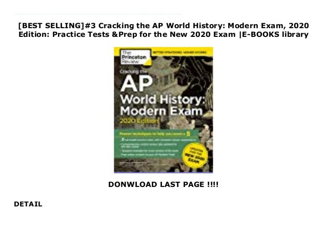 Best History Books 2020.Best Selling 3 Cracking The Ap World History Modern Exam