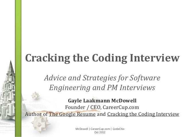 Cracking the Coding Interview       Advice and Strategies for Software        Engineering and PM Interviews               ...