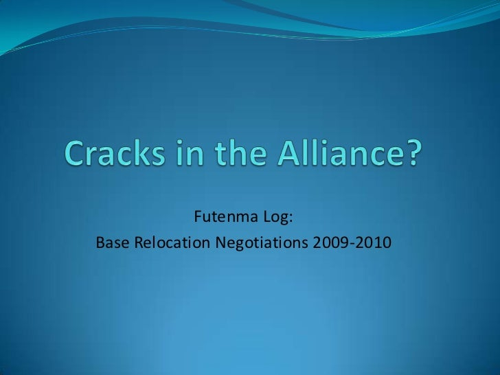 Futenma Log:Base Relocation Negotiations 2009-2010