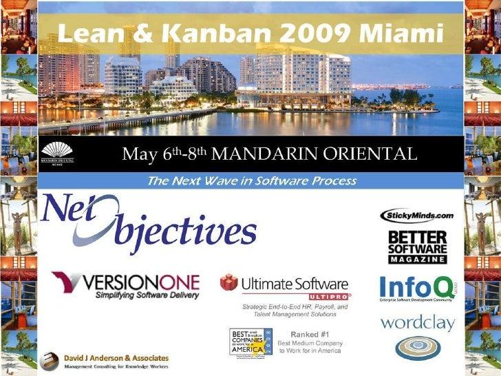 Linda M Cook Lean Kanban Conference            May 9, 2009               Miami, FL