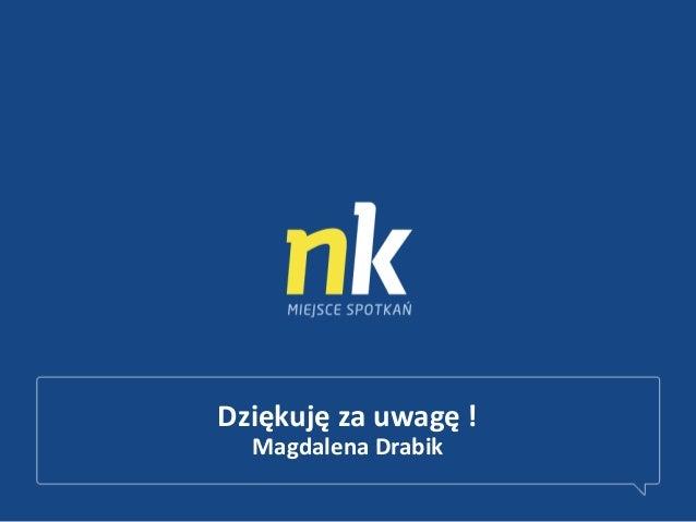 Dziękuję za uwagę !Magdalena Drabik