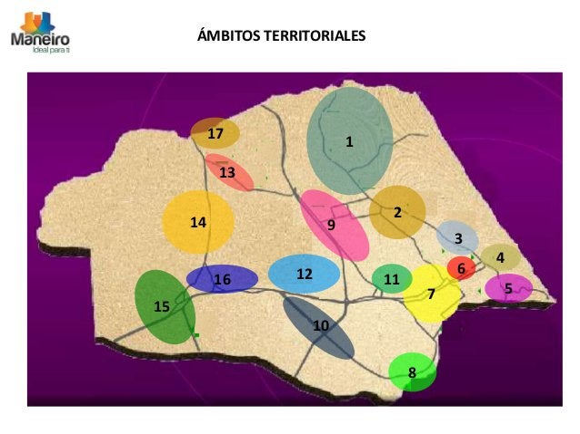 ÁMBITOS TERRITORIALES  1  2  5  8  12  14  17  16  9  10  15  7  6  11  3  13  4