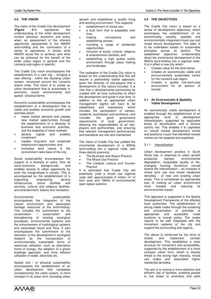 Cradle City Master Plan 30 June 08 Phase 1