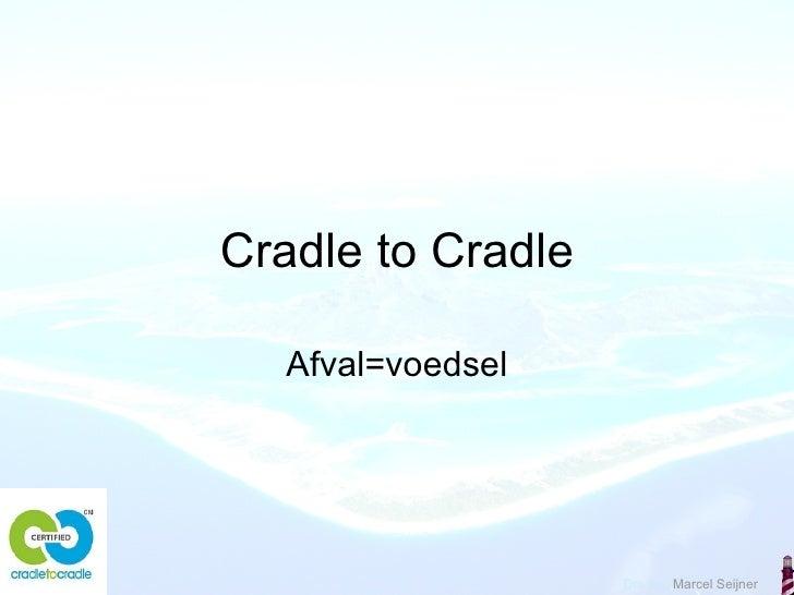 Cradle to Cradle Afval=voedsel
