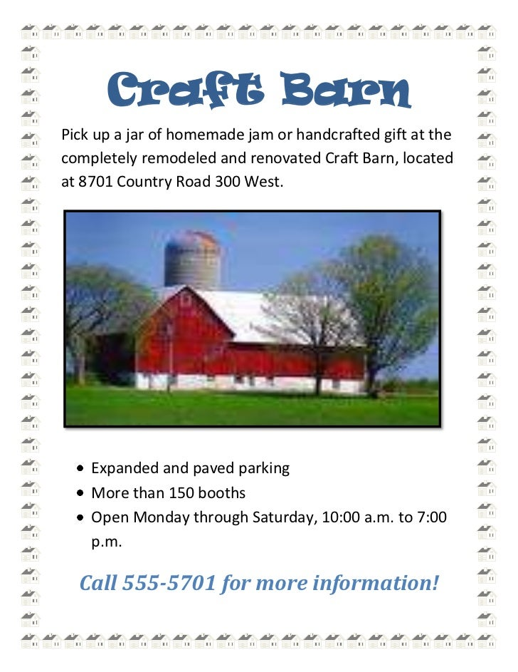 Craft Barn<br />Pick up a jar of homemade jam or handcrafted gift at the completely remodeled and renovated Craft Barn, lo...