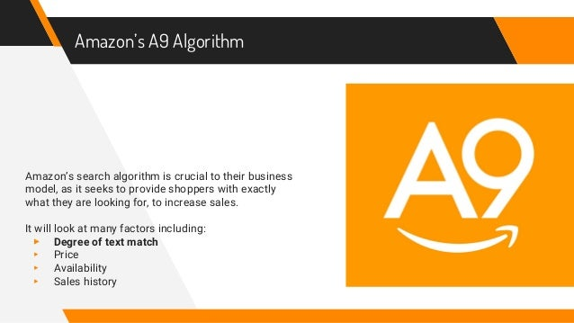 Image result for amazon a9 algorithm