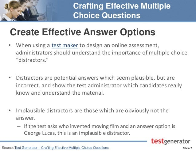 online multiple choice test maker crafting effective multiple choice questions 7 638 jpg cb 1424440435 online multiple choice test maker