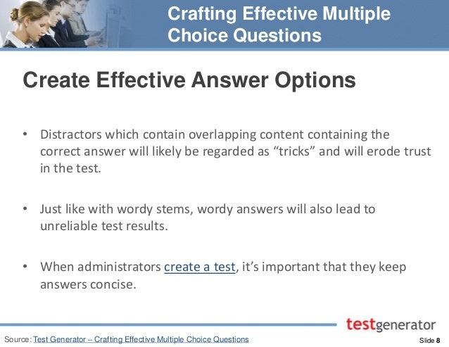 make multiple choice test