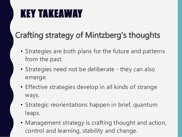 crafting strategy mintzberg summary