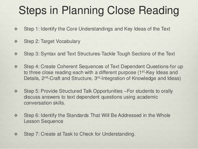Crafting Successful Close Reading Lessons Using Text