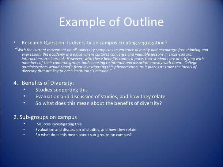 creating an outline for literature review