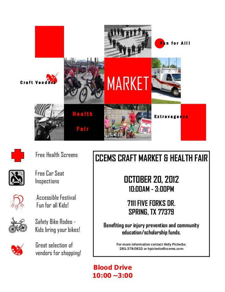 Fun for All!Craft Vendors                                       MARKET                       Health                       ...