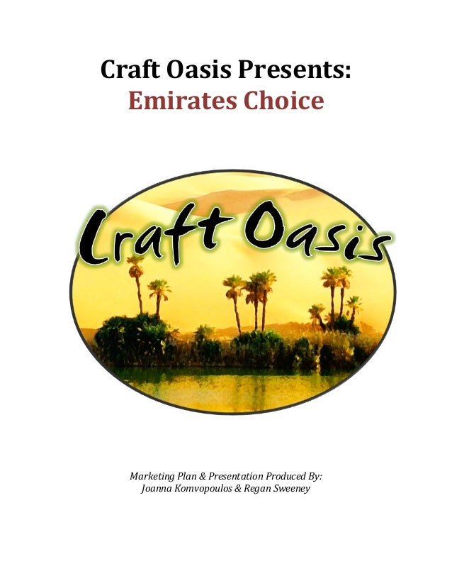 Craft	  Oasis	  Presents:	           Emirates	  Choice	  	  	  	  	  	                                                    ...