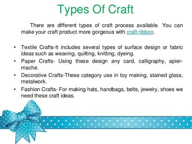 Types Of Crafts Crafting