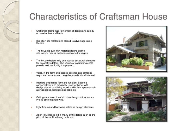Characteristics Of Craftsman House
