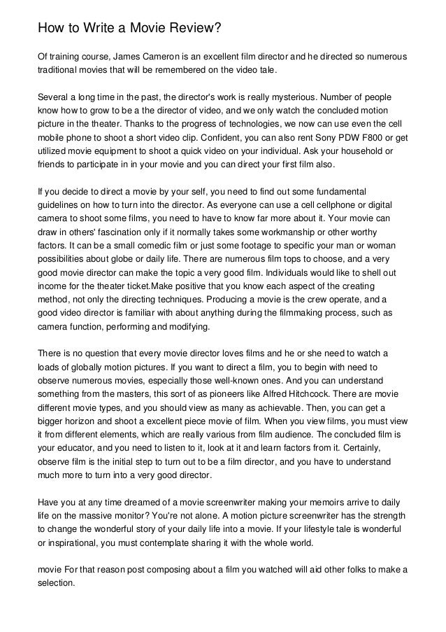 Essay On My Family In English Good Movies To Write An Essay On Do U Underline Movies In An Essay  Thesis For Compare Contrast Essay also Essay Thesis Statements Writing A Review Essay  Underfontanacountryinncom Narrative Essay Examples For High School