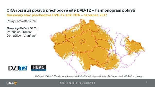 1Č E S K É R A D I O K O M U N I K A C E Pokrytí obyvatel: 76% Nové vysílače k 31.7.: Pardubice - Krásné Domažlice - Vraní...
