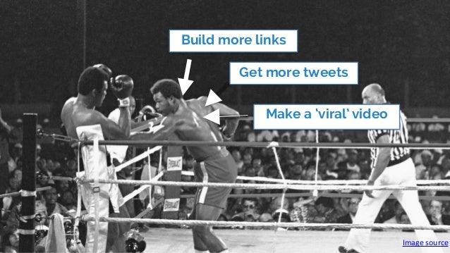Image  source Build more links Get more tweets Make a 'viral' video