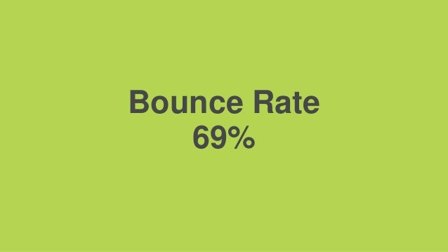 Bounce Rate 69%