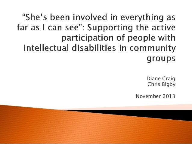 Diane Craig Chris Bigby November 2013